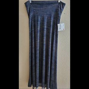 LuLaRoe Maxi Medium Blue Paisley Skirt